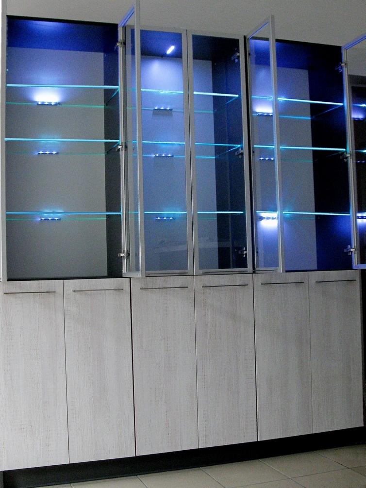 Oświetlenie Półek Szklanych Klips Led 2szt Kolor Pojedynczy